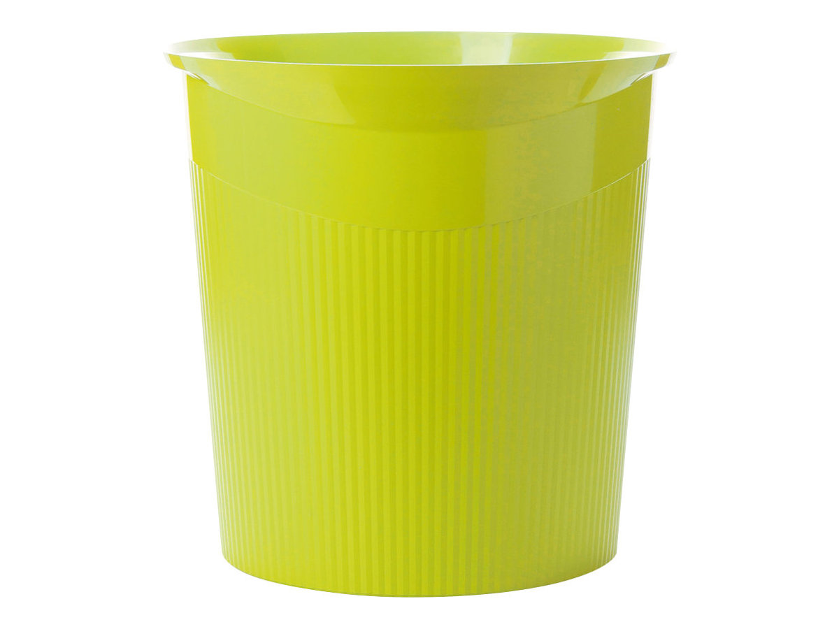 HAN LOOP - Papierkorb - rund - 13 L - Kunststoff - Trendfarbe zitronengelb