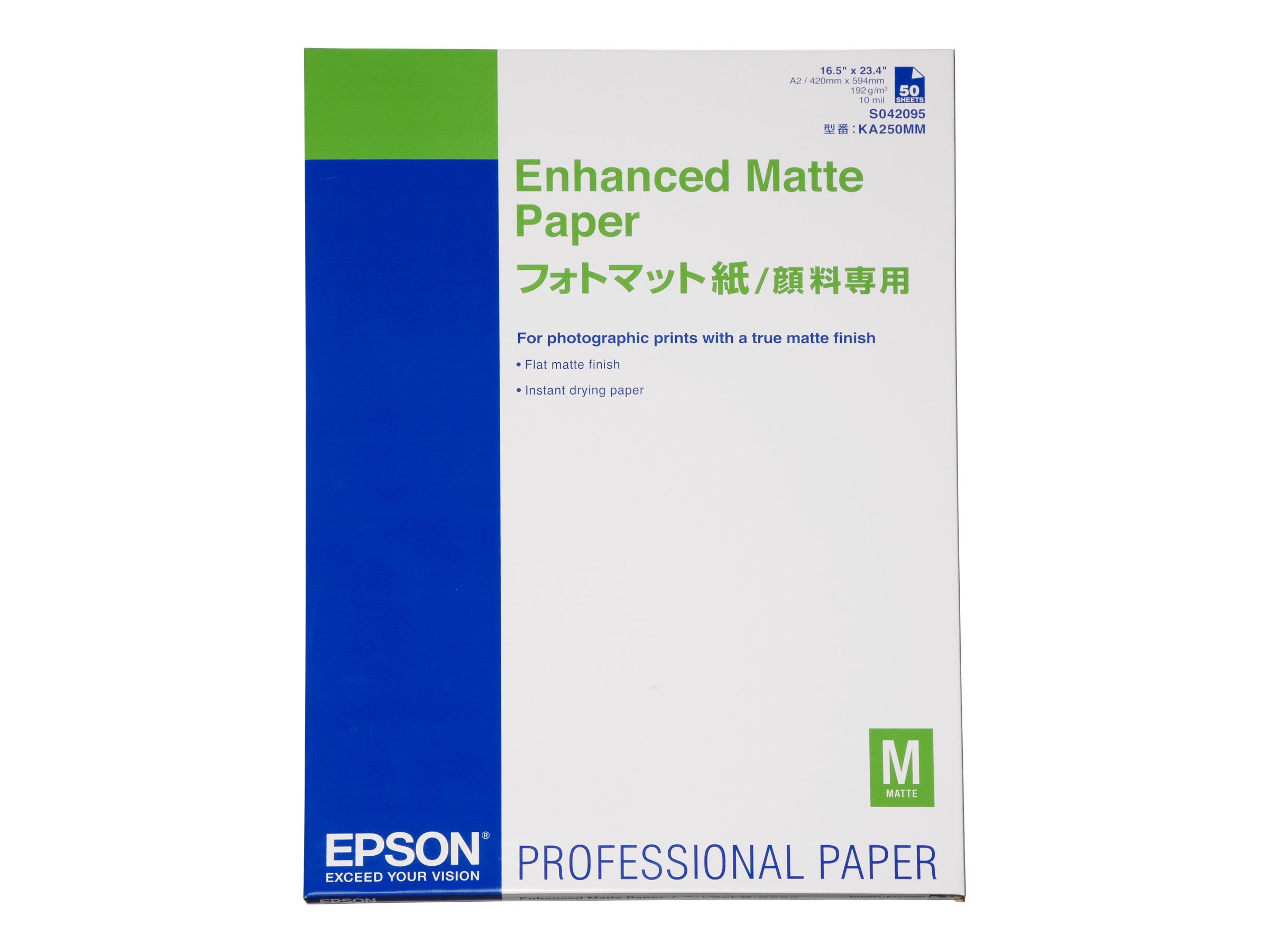 Epson Enhanced Matte - Matt - 260 Mikron - A2 (420 x 594 mm) - 192 g/m² - 50 Blatt Papier