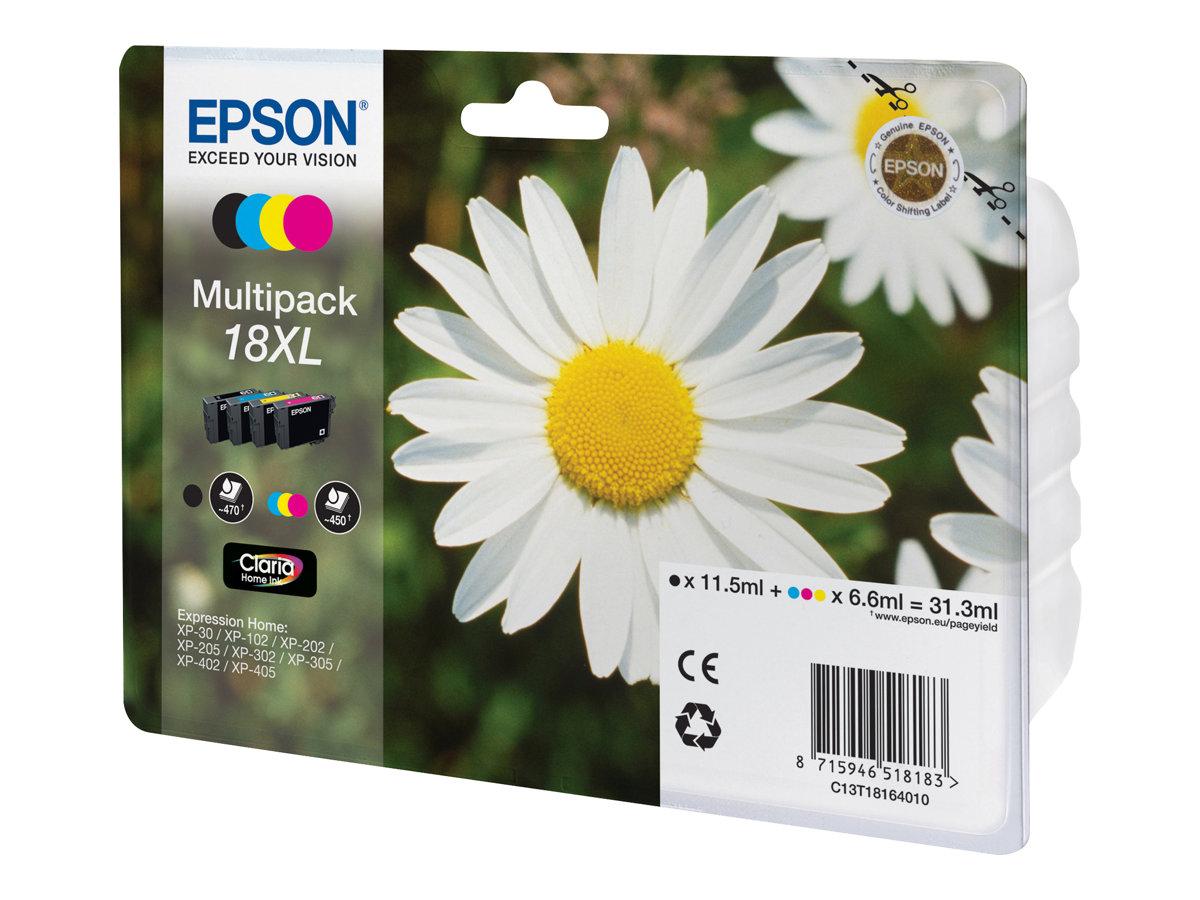 Epson 18XL Multipack - 4er-Pack - XL - Schwarz, Gelb, Cyan, Magenta - Original - Tintenpatrone