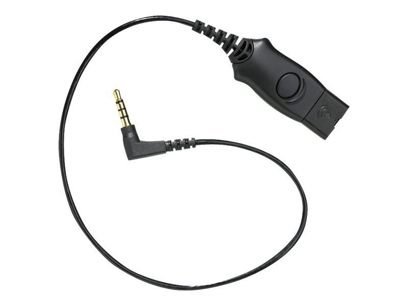 Plantronics MO300-N5 - Headset-Kabel - für Nokia 5320, 5700, 6110, 6121, 6290, N76, N78, N79, N81, N82, N85, N95; Sony XPERIA X1