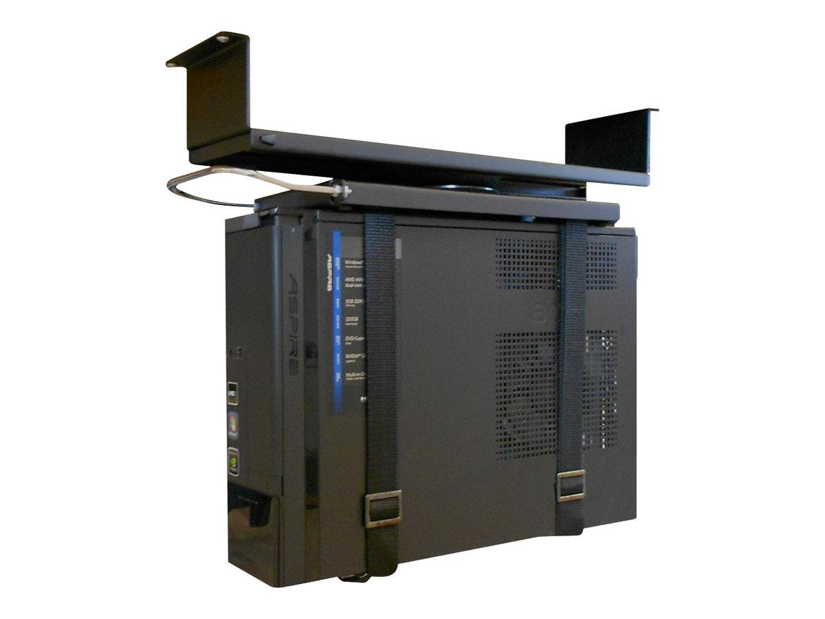 NewStar CPU mount CPU-D050BLACK - Halterung für Systemeinheit - unter Tisch montierbar - Schwarz