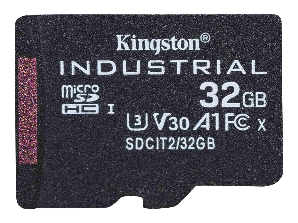 Kingston Industrial - Flash-Speicherkarte - 32 GB - A1 / Video Class V30 / UHS-I U3 / Class10 - microSDHC UHS-I