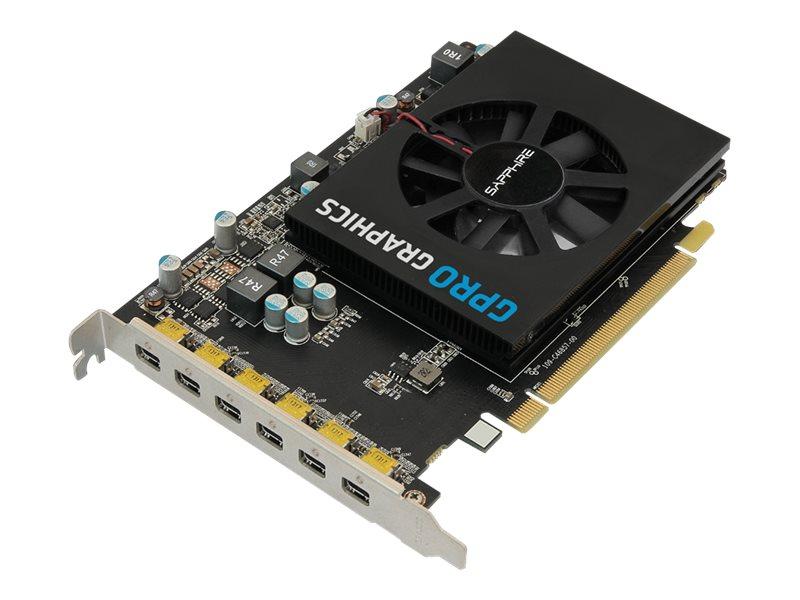 Sapphire GPRO 6200 - Grafikkarten - GPRO 6200 - 4 GB GDDR5 - PCIe 3.0 x16 - 6 x Mini DisplayPort