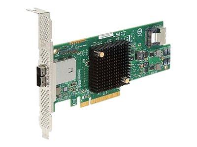 LSI SAS 9207-4i4e - Speicher-Controller - 8 Sender/Kanal - SATA 6Gb/s / SAS Low-Profile - 6 Gbit/s - PCIe 3.0 x8