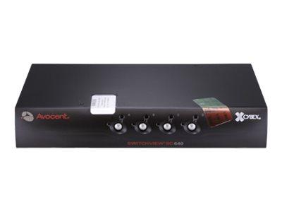 Avocent Switchview SC640C - KVM-/Audio-Switch - 4 x KVM/Audio - 1 lokaler Benutzer - Desktop