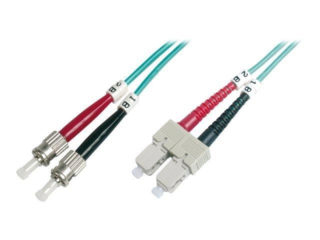 DIGITUS - Patch-Kabel - ST multi-mode (M) bis SC multi-mode (M) - 10 m - Glasfaser - 50/125 Mikrometer