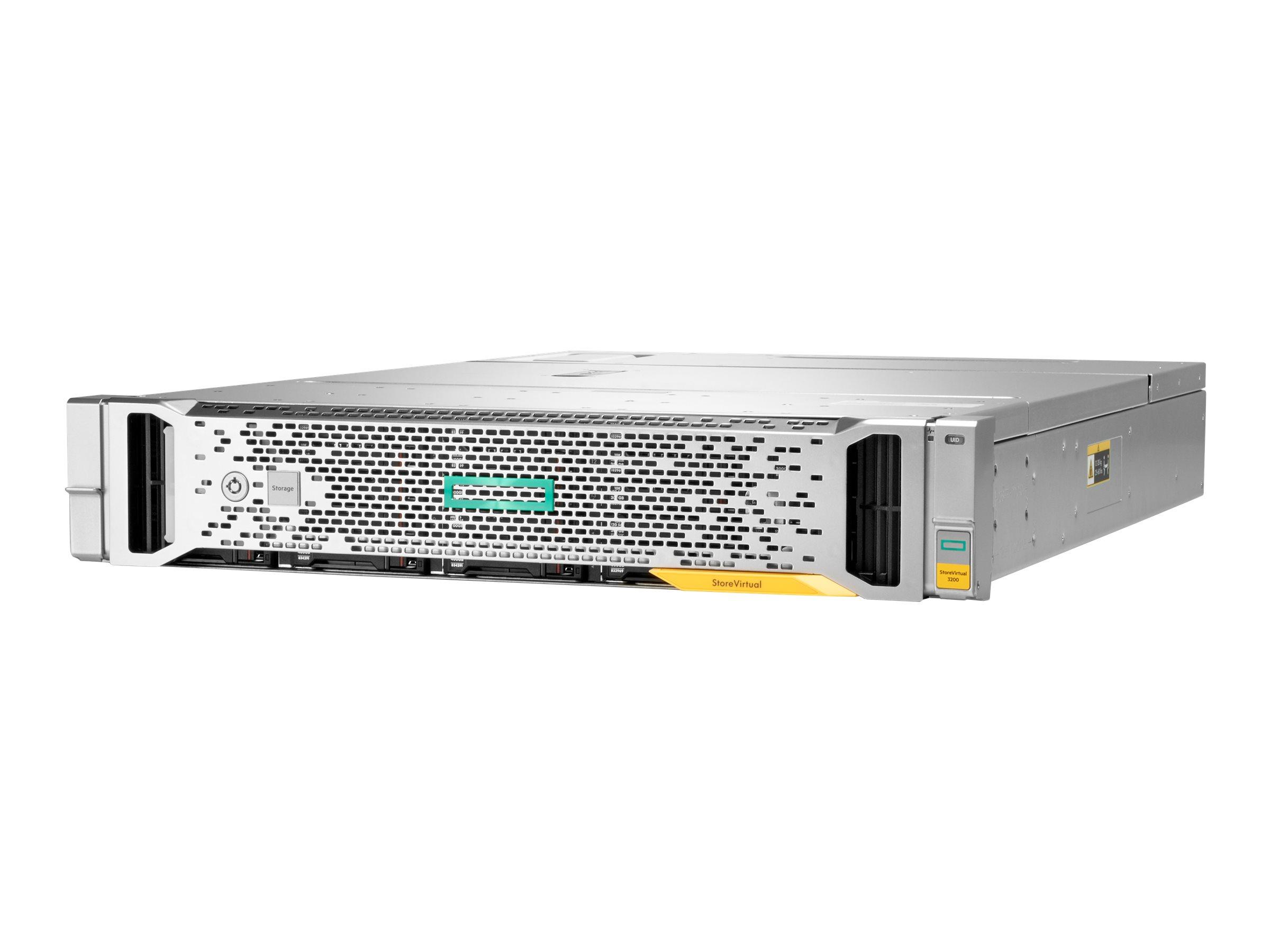 HPE StoreVirtual 3200 SFF - Festplatten-Array - 1.2 TB - 25 Schächte (SAS-3) - iSCSI (10 GbE) (extern) - Rack