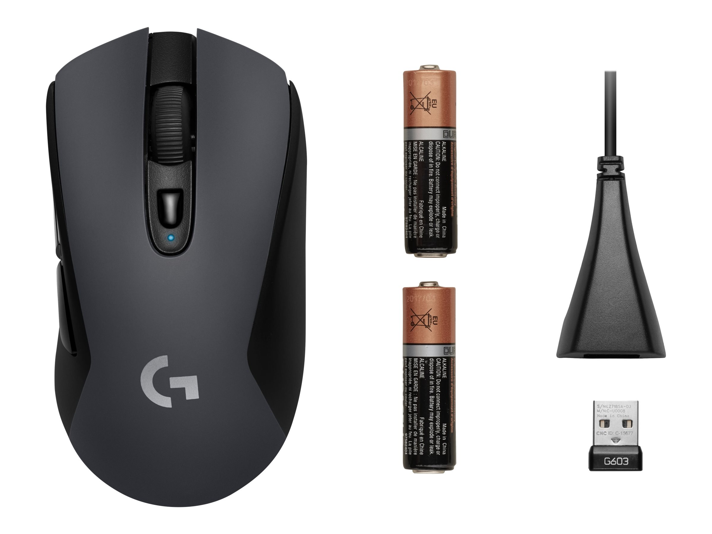 Logitech G603 - Maus - optisch - 6 Tasten - kabellos - Bluetooth, LIGHTSPEED