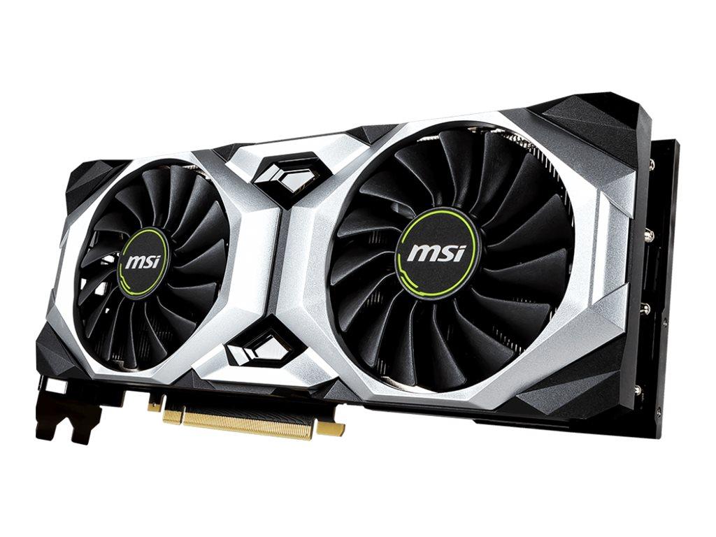 MSI RTX 2080 VENTUS 8G OC - Grafikkarten - GF RTX 2080 - 8 GB GDDR6 - PCIe 3.0 x16 - HDMI, 3 x DisplayPort, USB-C