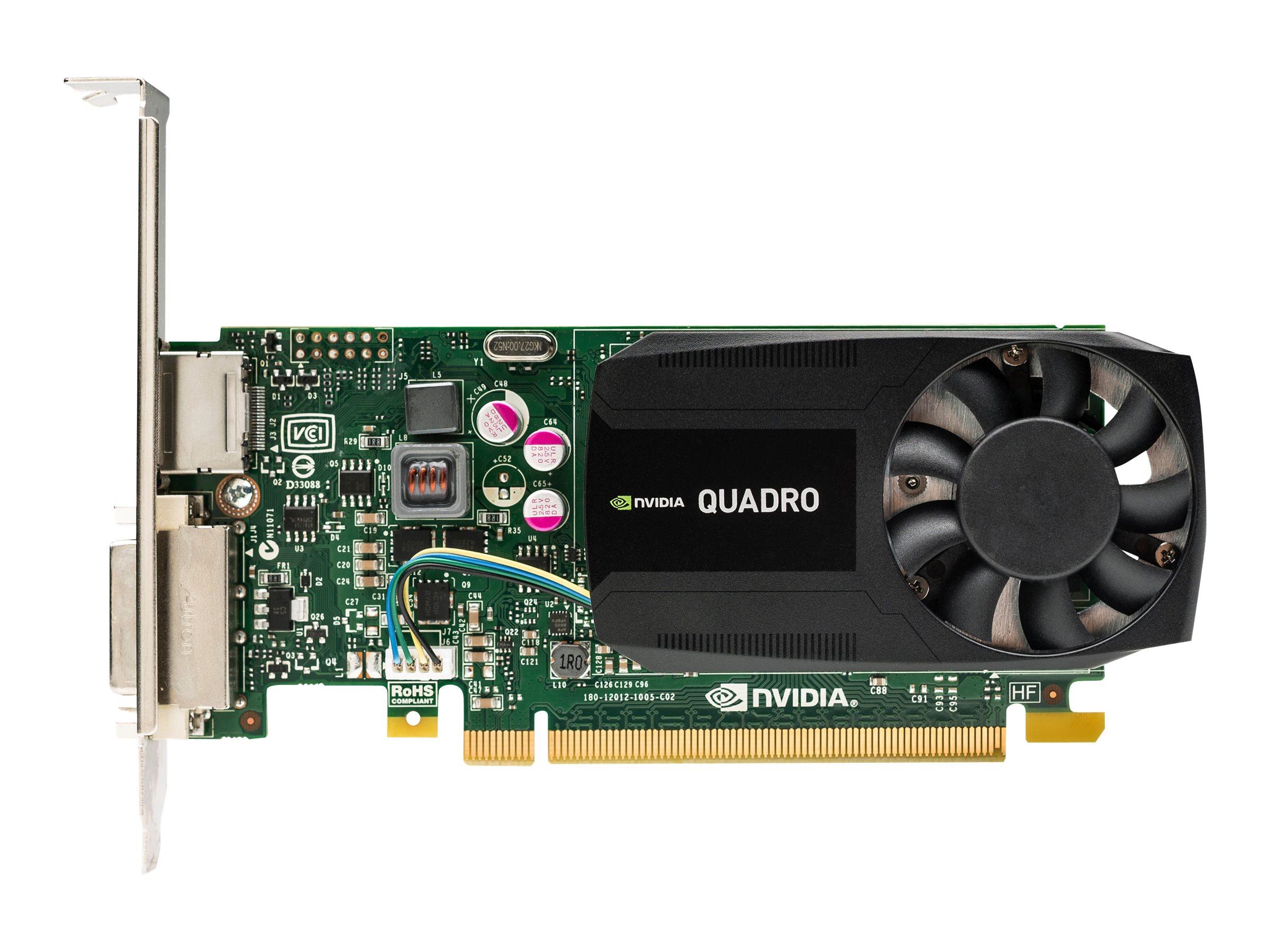 NVIDIA Quadro K620 - Grafikkarten - Quadro K620 - 2 GB DDR3 - PCIe 2.0 x16 Low-Profile - DVI, DisplayPort