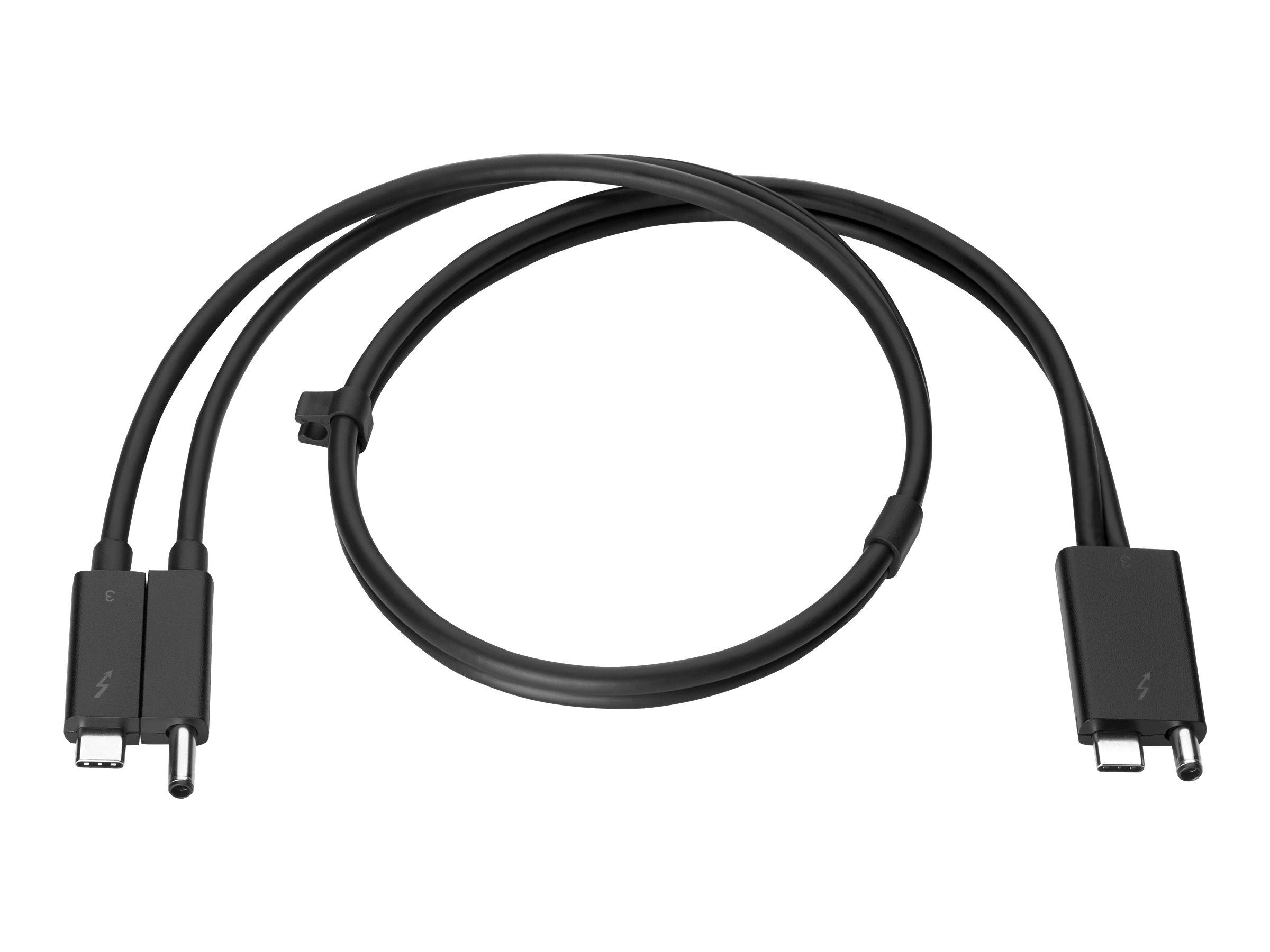 HP Combo - Thunderbolt-Kabel - 70 cm - Schwarz - für EliteBook x360; Mobile Thin Client mt45; ProBook 455r G6; ZBook 15 G6, 17 G
