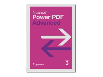 Nuance Power PDF Advanced - (v. 3.0) - Box-Pack - 1 Benutzer (Brown Bag) - Win - Englisch