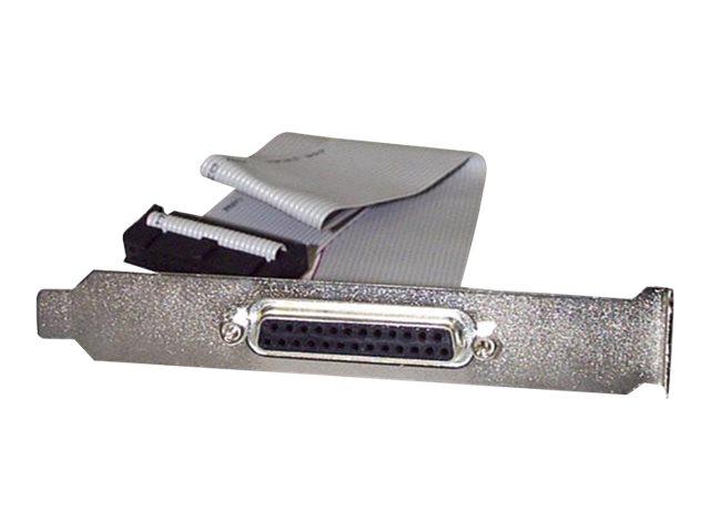 StarTech.com 40cm DB25 Parallel Buchse auf IDC 25 Pin Header Slotblech - Parallelport - DB-25 (W) bis IDC 26-polig (W) - 40.64 c