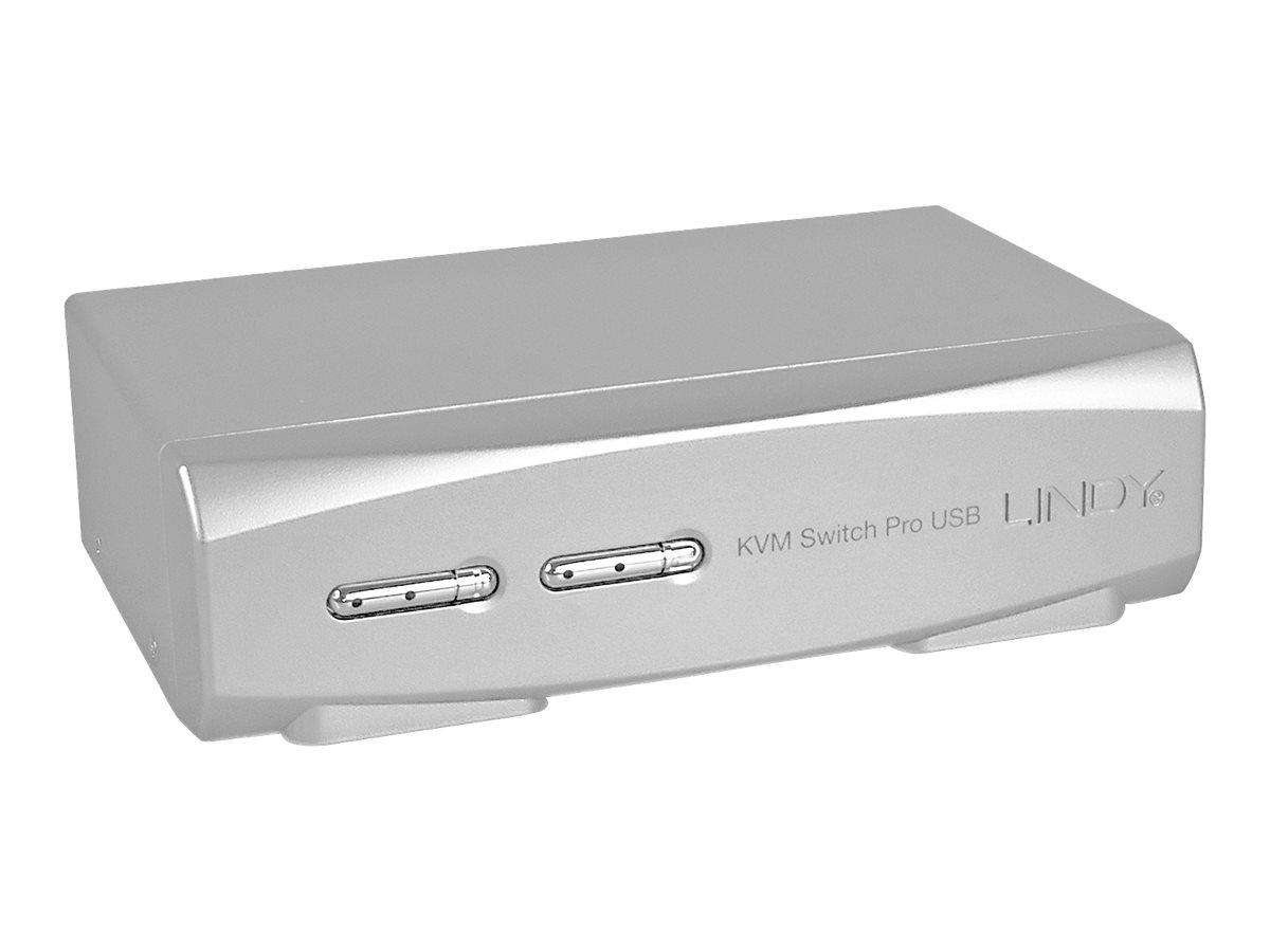 Lindy 2 Port DVI-I Single Link, USB 2.0 & Audio KVM Switch Pro - KVM-/Audio-/USB-Switch - 2 x KVM/Audio/USB - 1 lokaler Benutzer