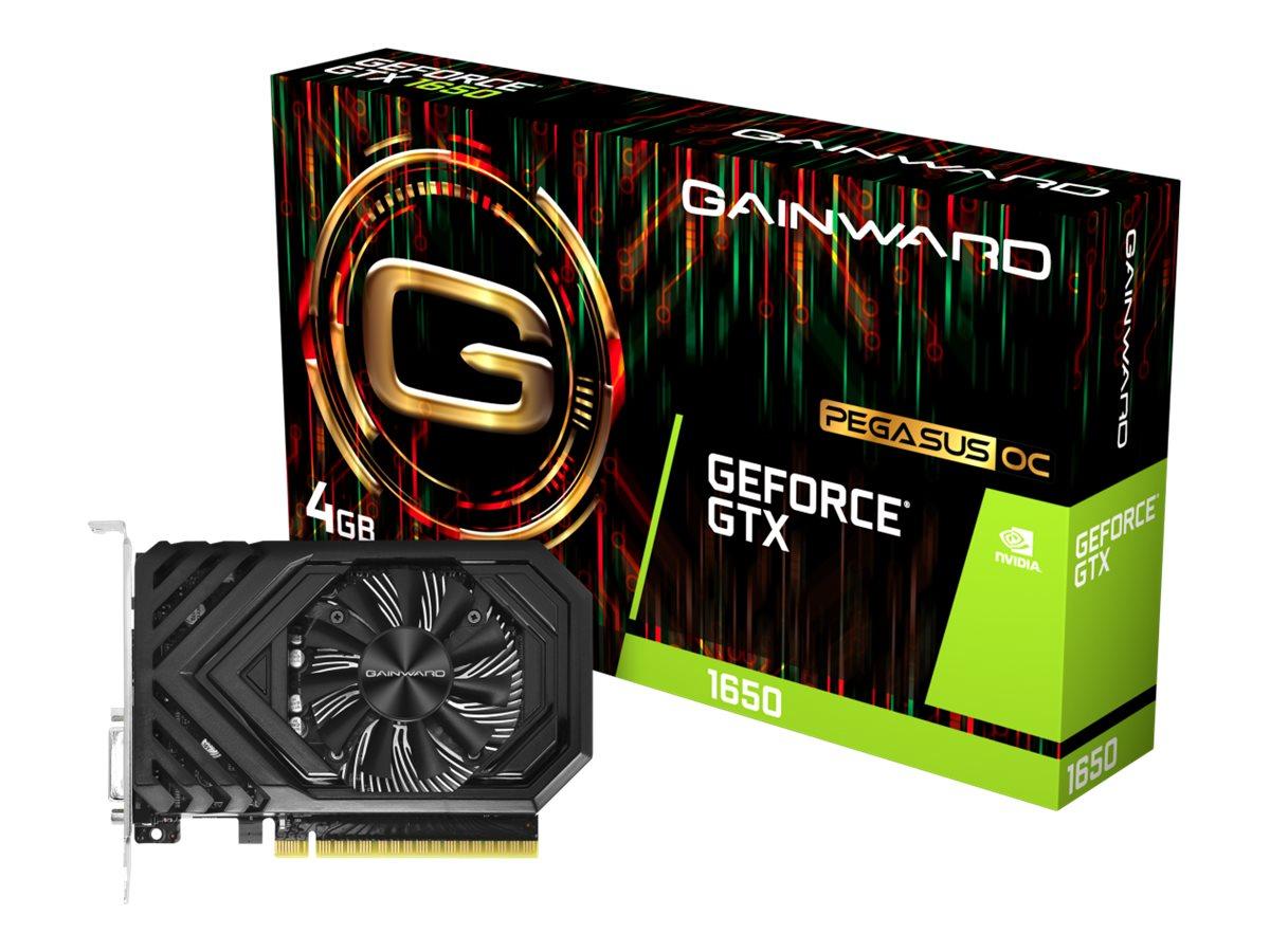 Gainward GeForce GTX 1650 Pegasus OC - Grafikkarten - GF GTX 1650 - 4 GB GDDR5 - PCIe 3.0 x16 - DVI, HDMI