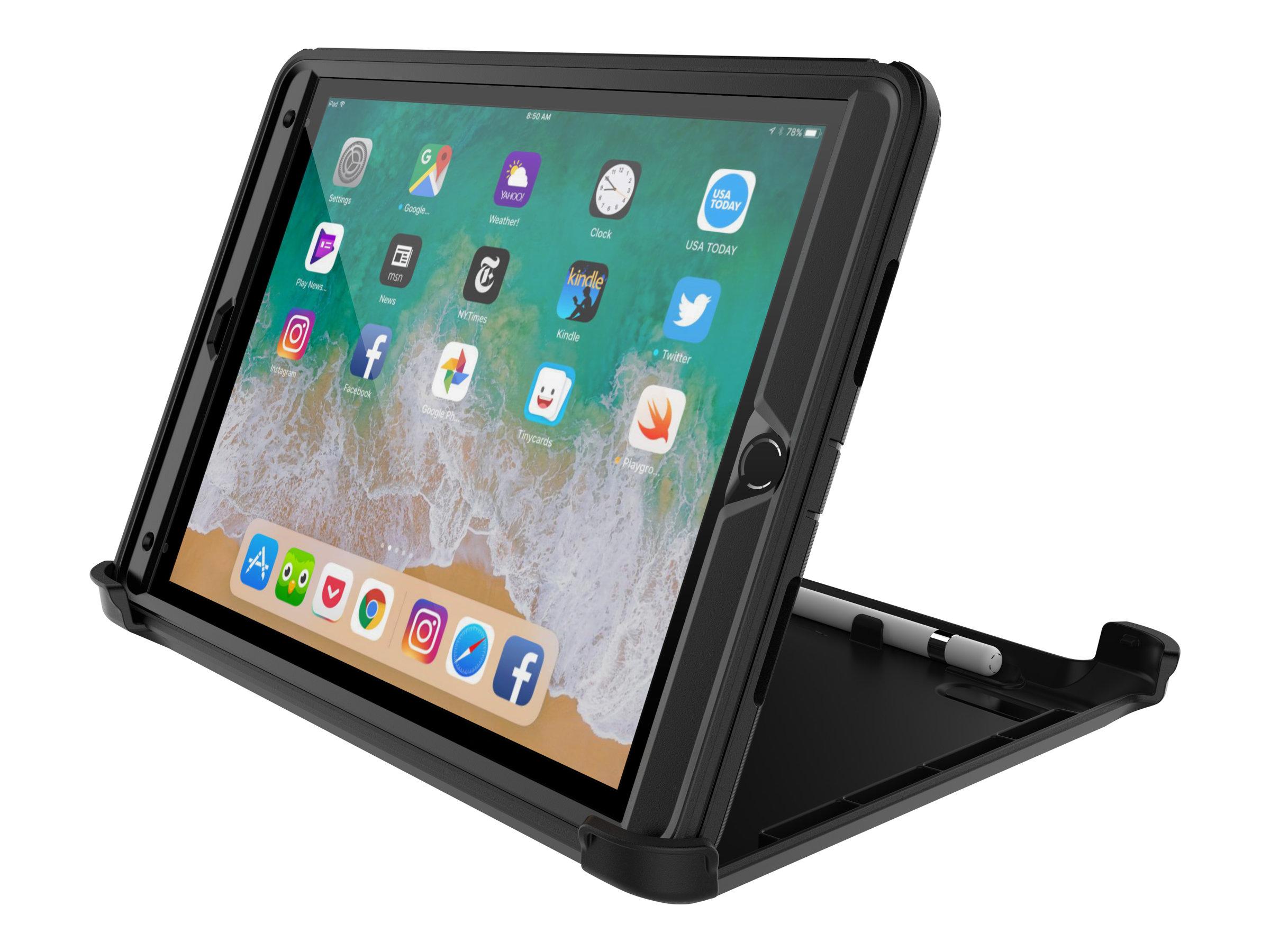 OtterBox Defender Series - Schutzhülle für Tablet - widerstandsfähig - Polyester, Polycarbonat, Kunstfaser - Schwarz - 10.5