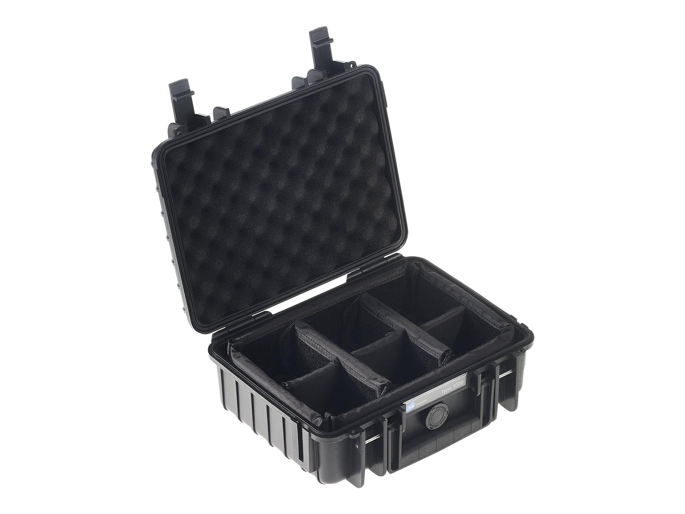 B&W outdoor.case Type 1000 - Hartschalentasche - Polypropylen - Schwarz