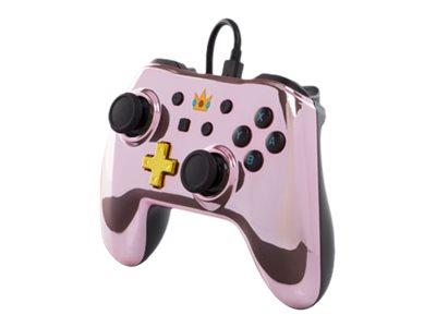 PowerA Super Mario Princess Peach - Chrome Edition - Game Pad - kabelgebunden - pink - für Nintendo Switch
