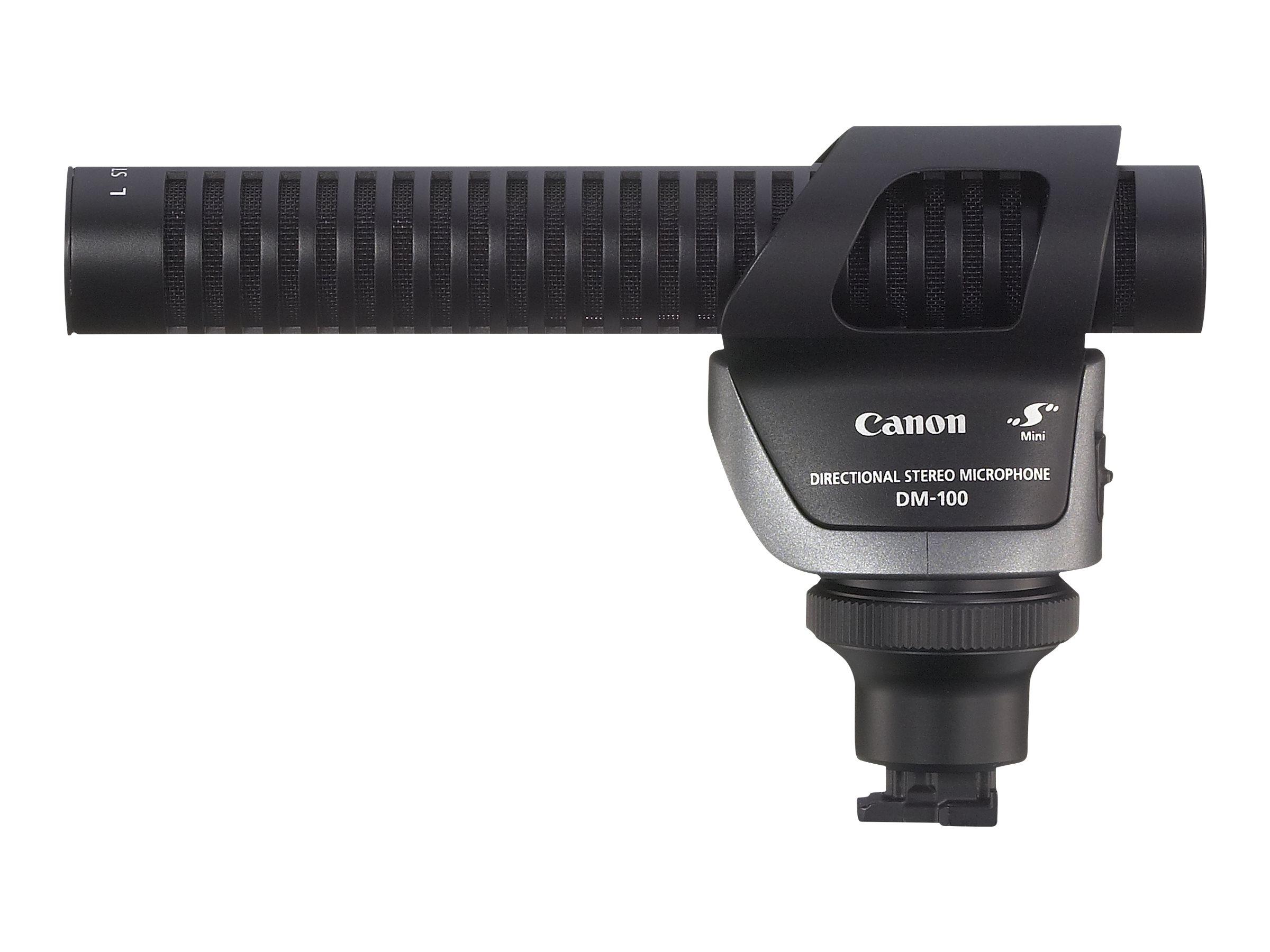 Canon DM-100 - Mikrofon - für iVIS HF G20, HF S10; LEGRIA HF G25, HF G50; VIXIA GX10, HF G21, HF G40, HF G50, HF G60
