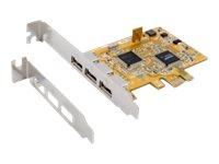 Exsys EX-11053 - USB-Adapter - PCIe Low-Profile - USB 2.0 x 3