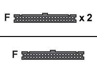 IBM - IDE-/EIDE-Kabel - IDC 40-polig (W) bis IDC 40-polig (W) - für eserver xSeries 335 8830