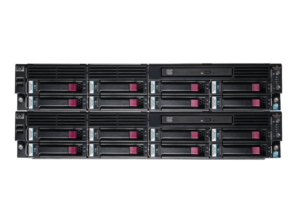 HPE StorageWorks P4300 G2 MDL SAS Starter SAN Solution - Festplatten-Array - 16 TB - 16 Schächte (SAS) - HDD 1 TB x 16 - DVD-ROM