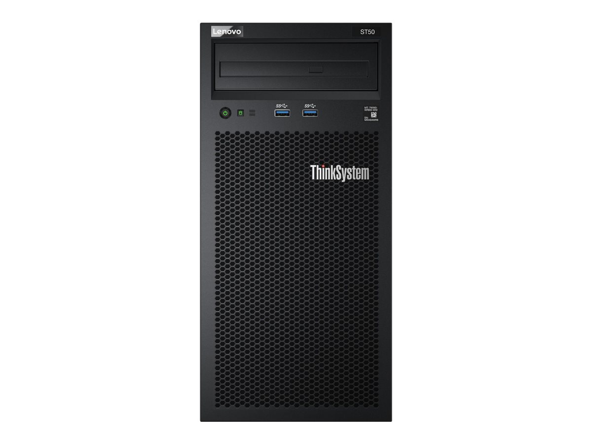 Lenovo ThinkSystem ST50 7Y48 - Server - Tower - 4U - 1-Weg - 1 x Xeon E-2176G / 3.7 GHz