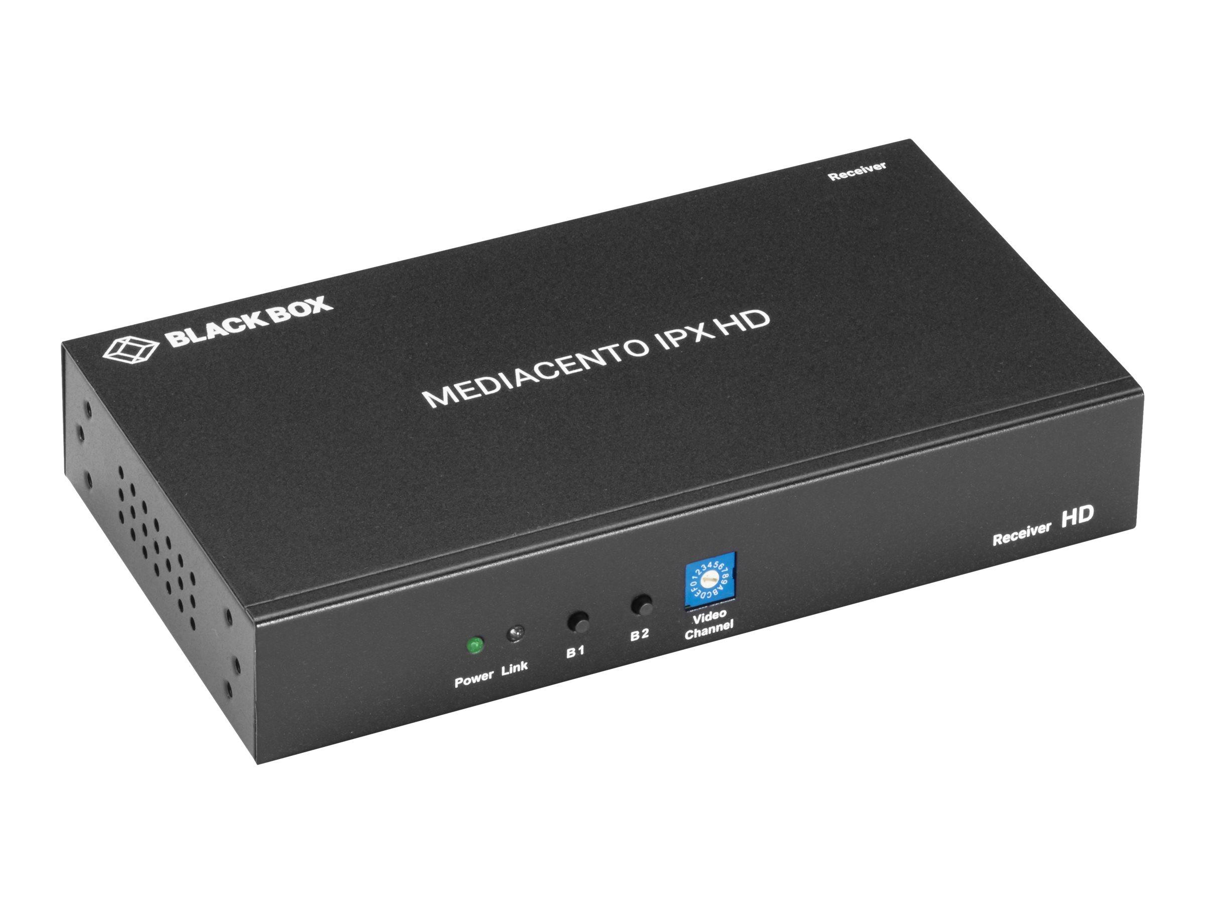 Black Box MediaCento IPX HD Receiver - HDMI over IP - Erweiterung für Video/Audio - GigE - 1000Base-T - bis zu 100 m
