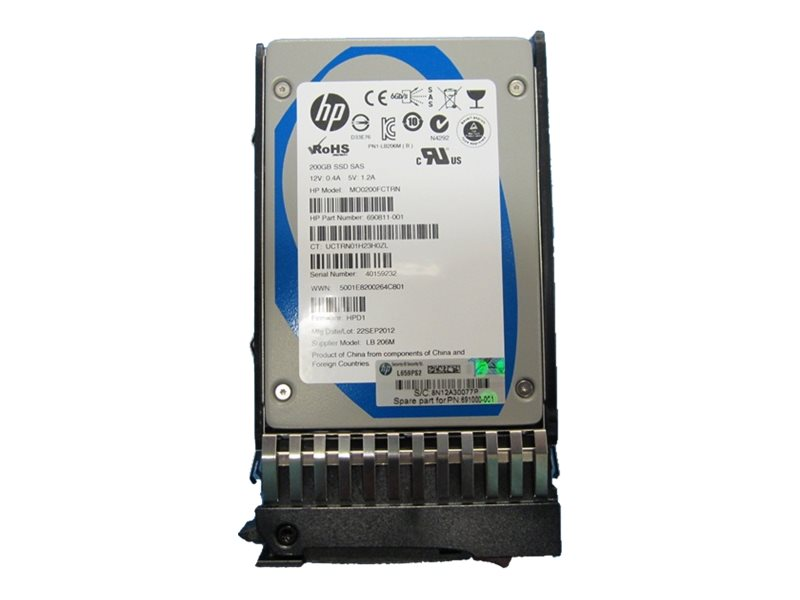 HPE Enterprise - Solid-State-Disk - 200 GB - Hot-Swap - 2.5