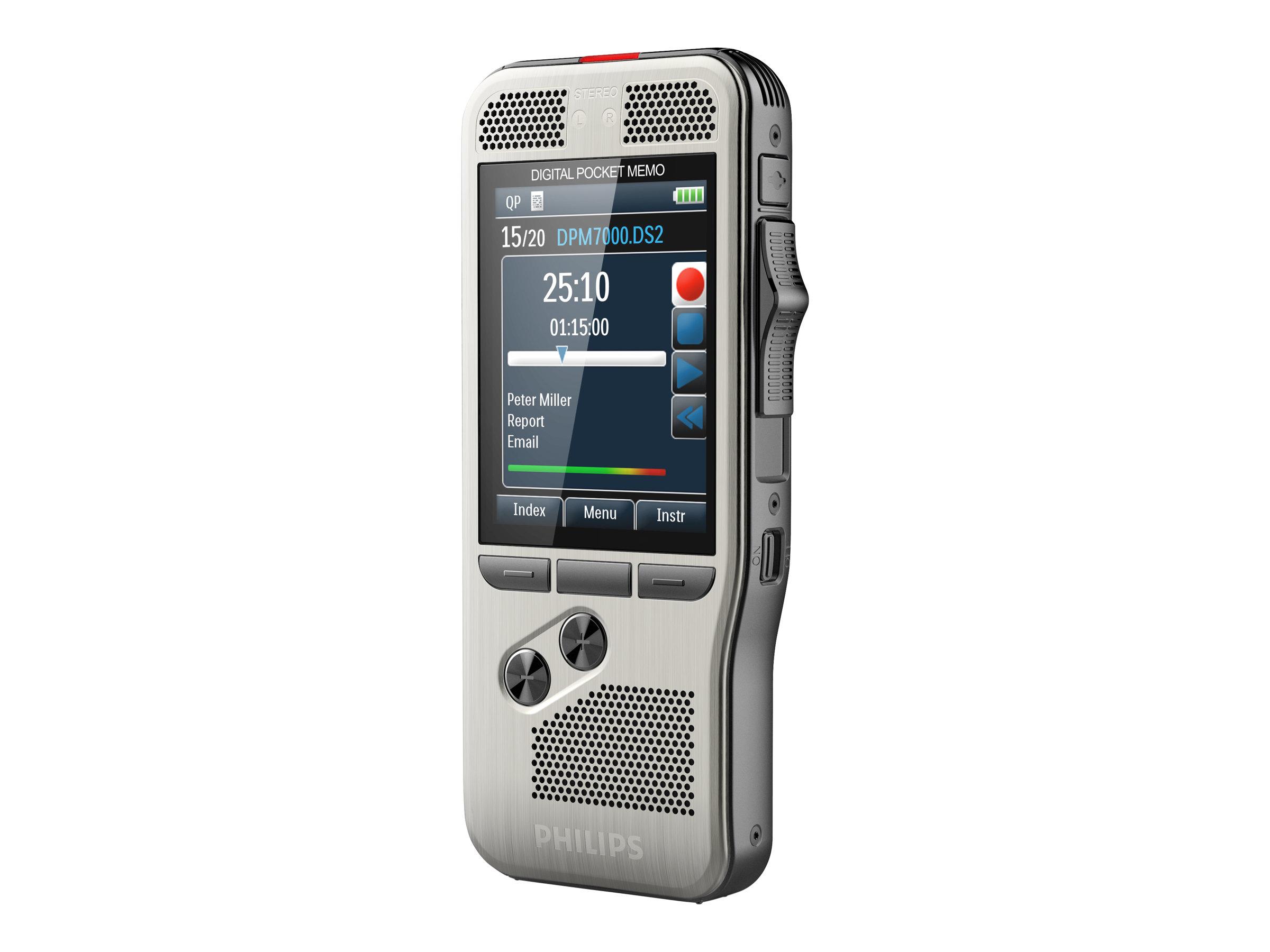 Philips Pocket Memo DPM7000 - Voicerecorder - 200 mW