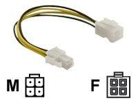 DeLOCK - Spannungsversorgungs-Verlängerungskabel - 4 PIN ATX12V (M) bis 4 PIN ATX12V (W) - 15 cm