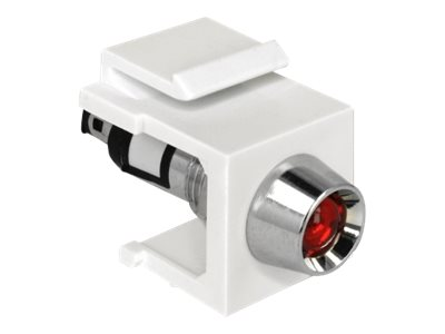 DeLOCK Keystone LED red 6 V - Modulare Eingabe - weiss