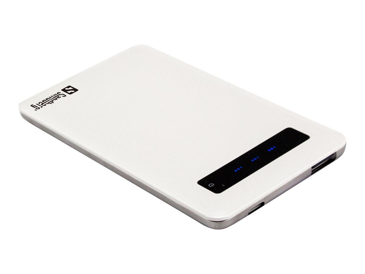 Sandberg Pocket Powerbank 5000 - Powerbank - 5000 mAh - 2 A (USB) - auf Kabel: Micro-USB
