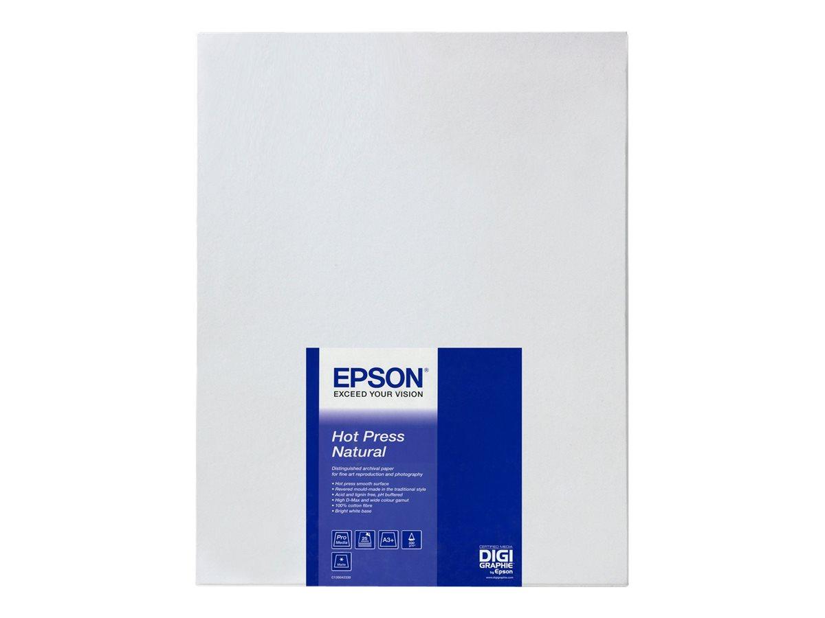 Epson Fine Art Hot Press Natural - Baumwolle - glatt matt - Natural White - Rolle (152,4 cm x 15 m) - 330 g/m²