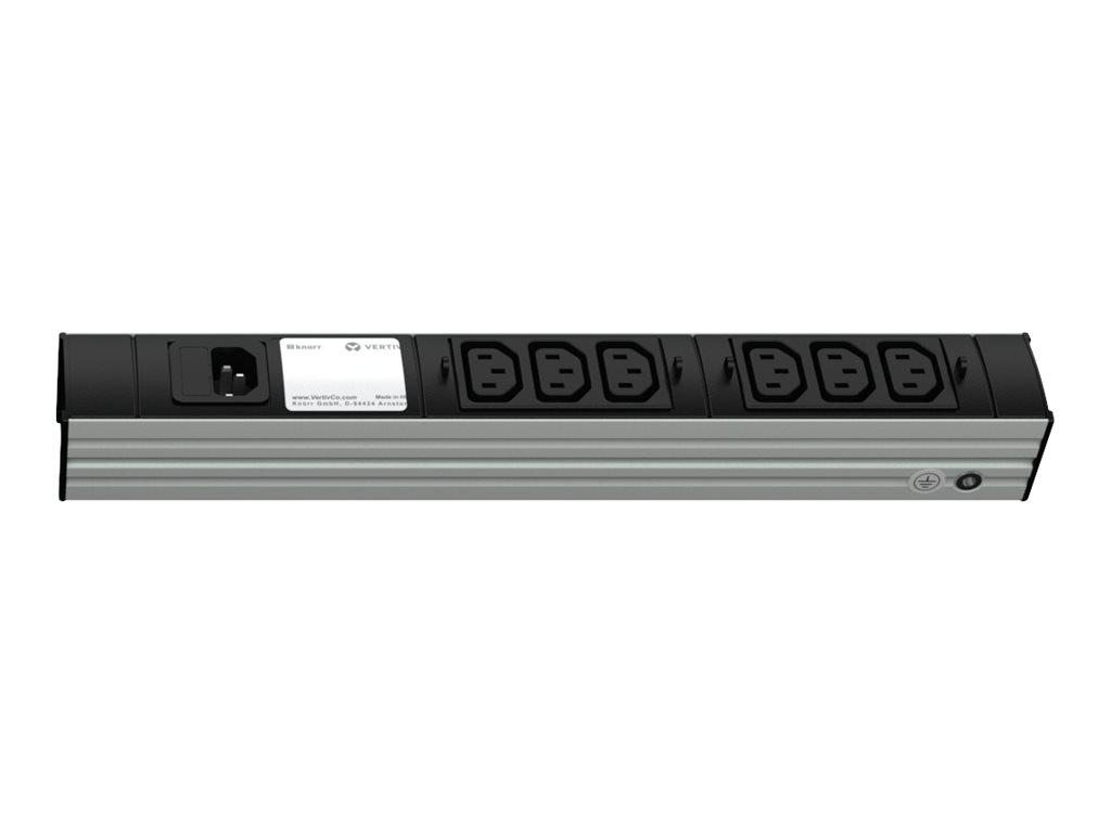 Knürr DI-STRIP Euro Plug System - Steckdosenleiste (Rack - einbaufähig) - Ausgangsanschlüsse: 6 - 1U - Hellgrau, Dunkelgrau, RAL