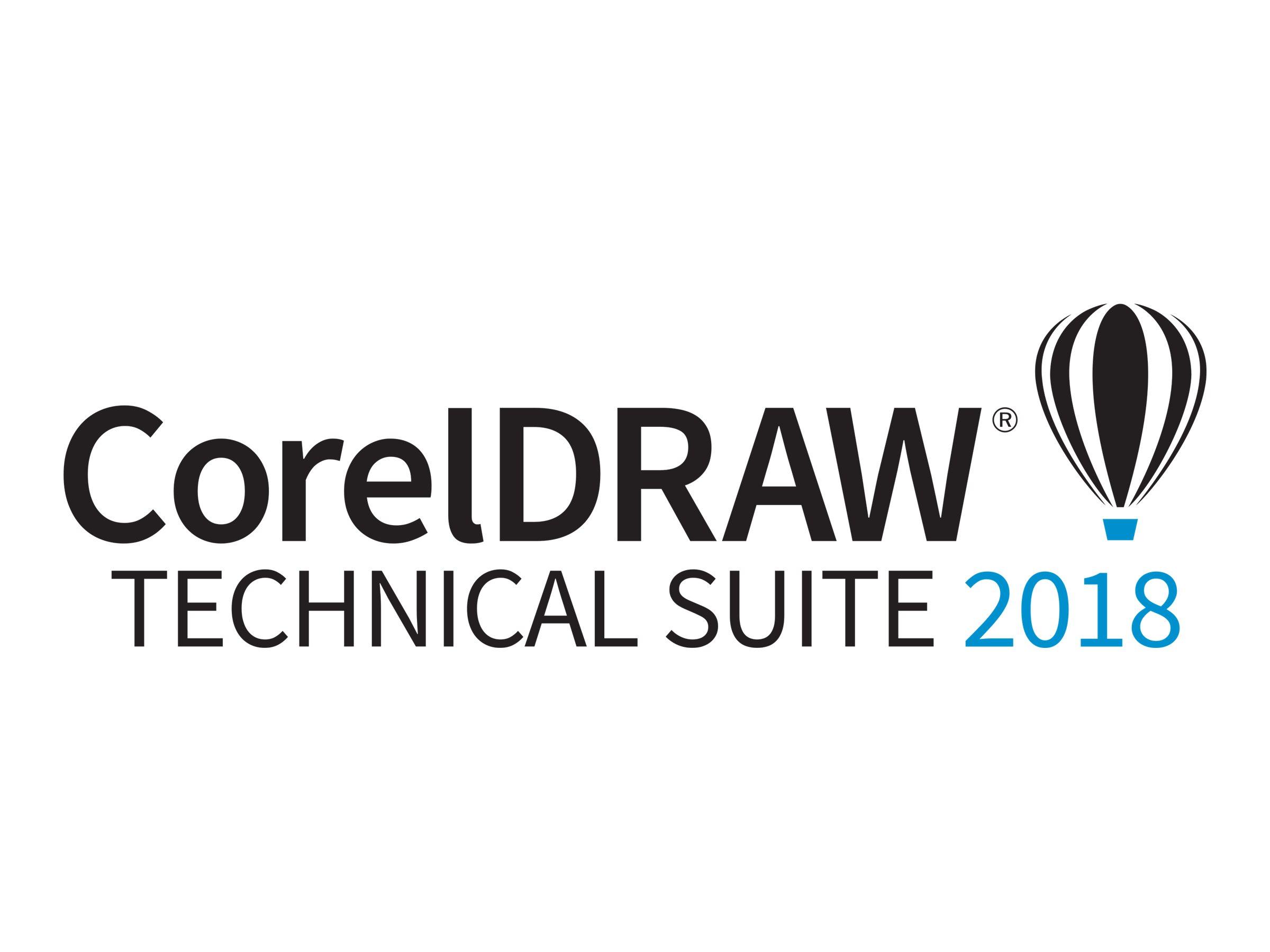 CorelDRAW Technical Suite 2018 - Enterprise-Lizenz (Upgrade) + 1 Jahr CorelSure-Softwarewartung - 1 Benutzer - Volumen - 51-250