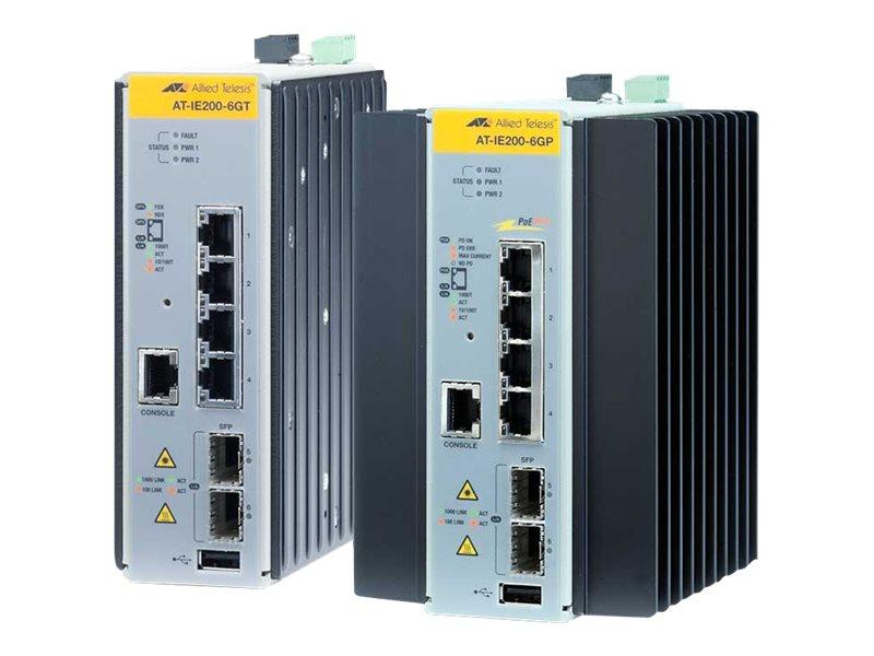 Allied Telesis AT IE300-12GT - Switch - L3 - verwaltet - 8 x 10/100/1000 + 4 x Gigabit SFP - an DIN-Schiene montierbar, wandmont