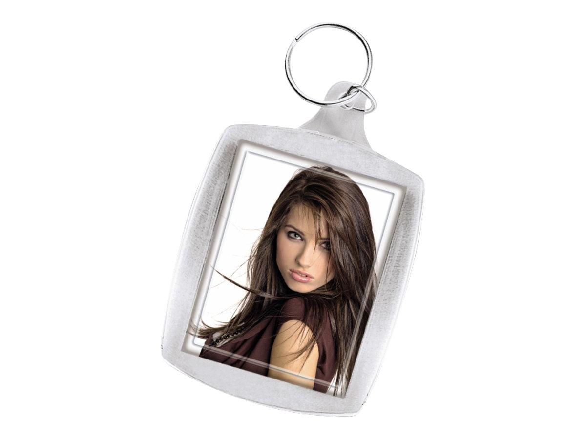 Hama Acrylic Keychain - Fotorahmen - Konzipiert für: 1,4 x 1,7 Zoll (3,5 x 4,5 cm) - Acryl - rechteckig (Packung mit 24)