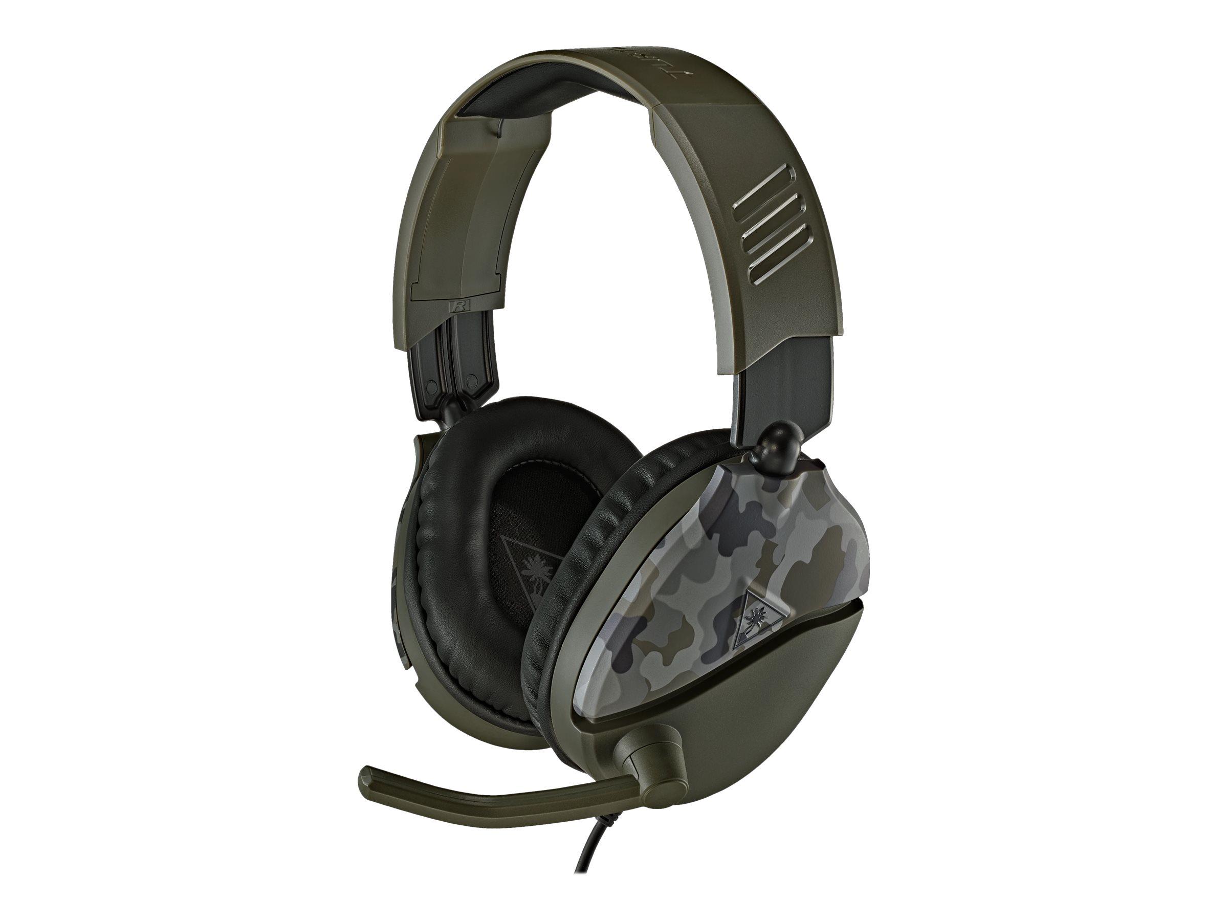 Turtle Beach Recon 70 Green Camo - Headset - ohrumschliessend - kabelgebunden - 3,5 mm Stecker