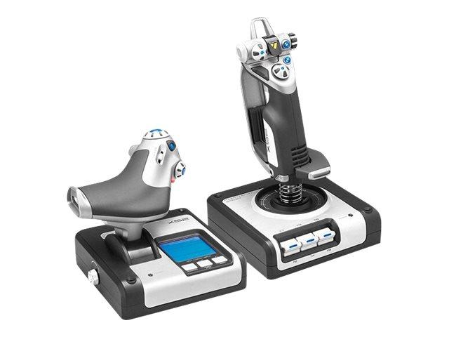 Logitech G X52 H.O.T.A.S. - Joystick und Gasregler - kabelgebunden - für PC