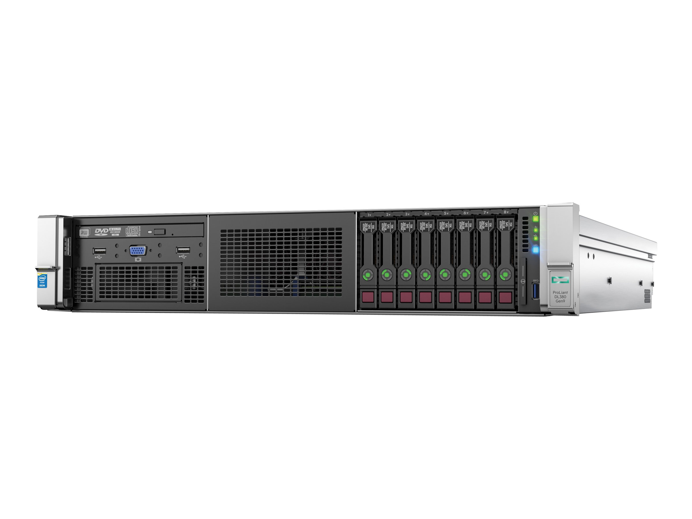 HPE ProLiant DL380 Gen9 Base - Server - Rack-Montage - 2U - zweiweg - 1 x Xeon E5-2620V3 / 2.4 GHz