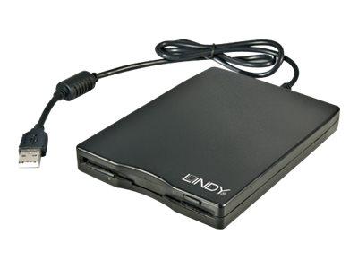 Lindy - Laufwerk - Diskette (1.44 MB) - USB - extern - Schwarz