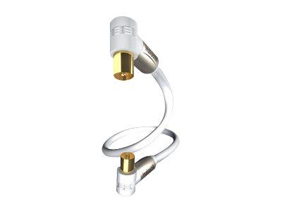 in-akustik Premium HDTV - Antennenverlängerungskabel - IEC-Anschluss (W) bis IEC-Anschluss (M) - 1.5 m - Dreifachisolierung - 10