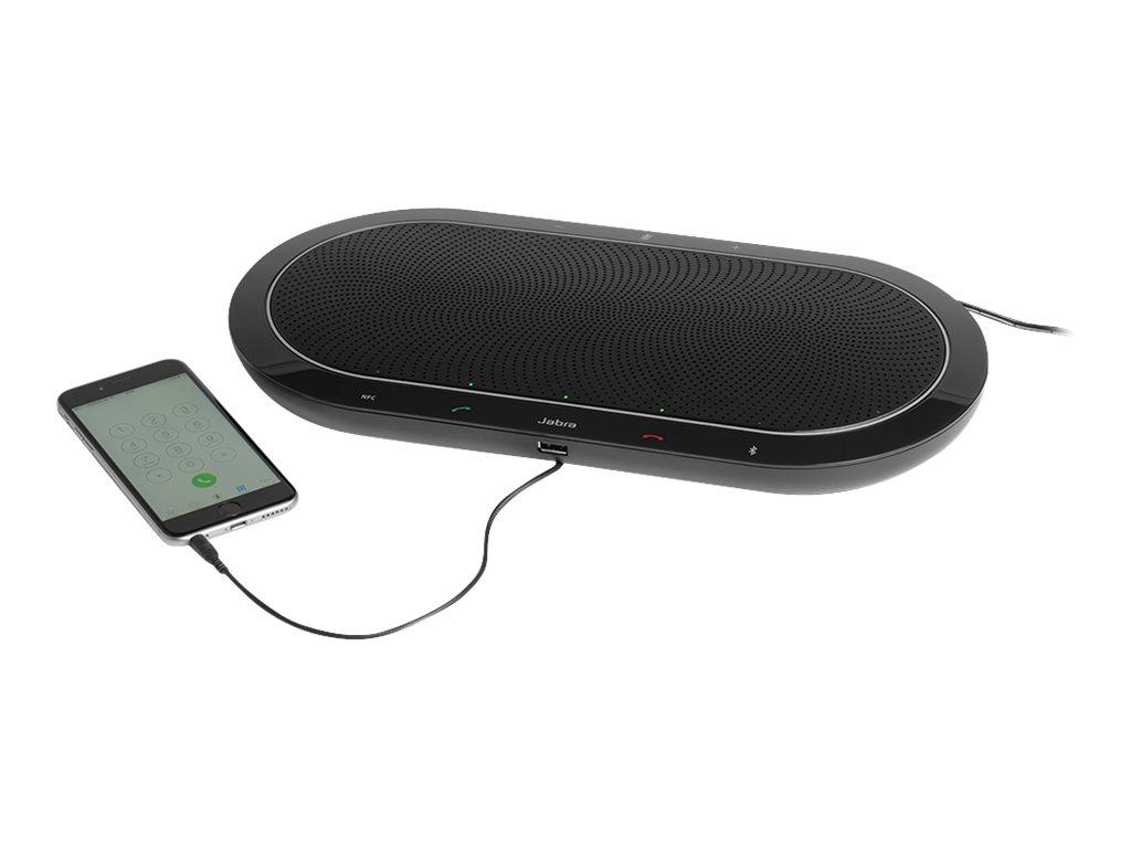 Jabra SPEAK 810 UC - USB-VoIP-Desktop-Freisprecheinrichtung - Bluetooth - kabellos - NFC - USB, 3,5 mm Stecker