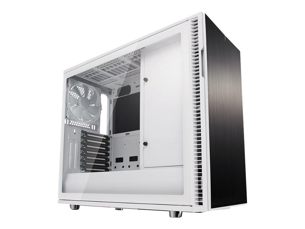 Fractal Design Define Series R6 TG - Tower - Erweitertes ATX - ohne Netzteil (ATX) - weiss - USB/Audio