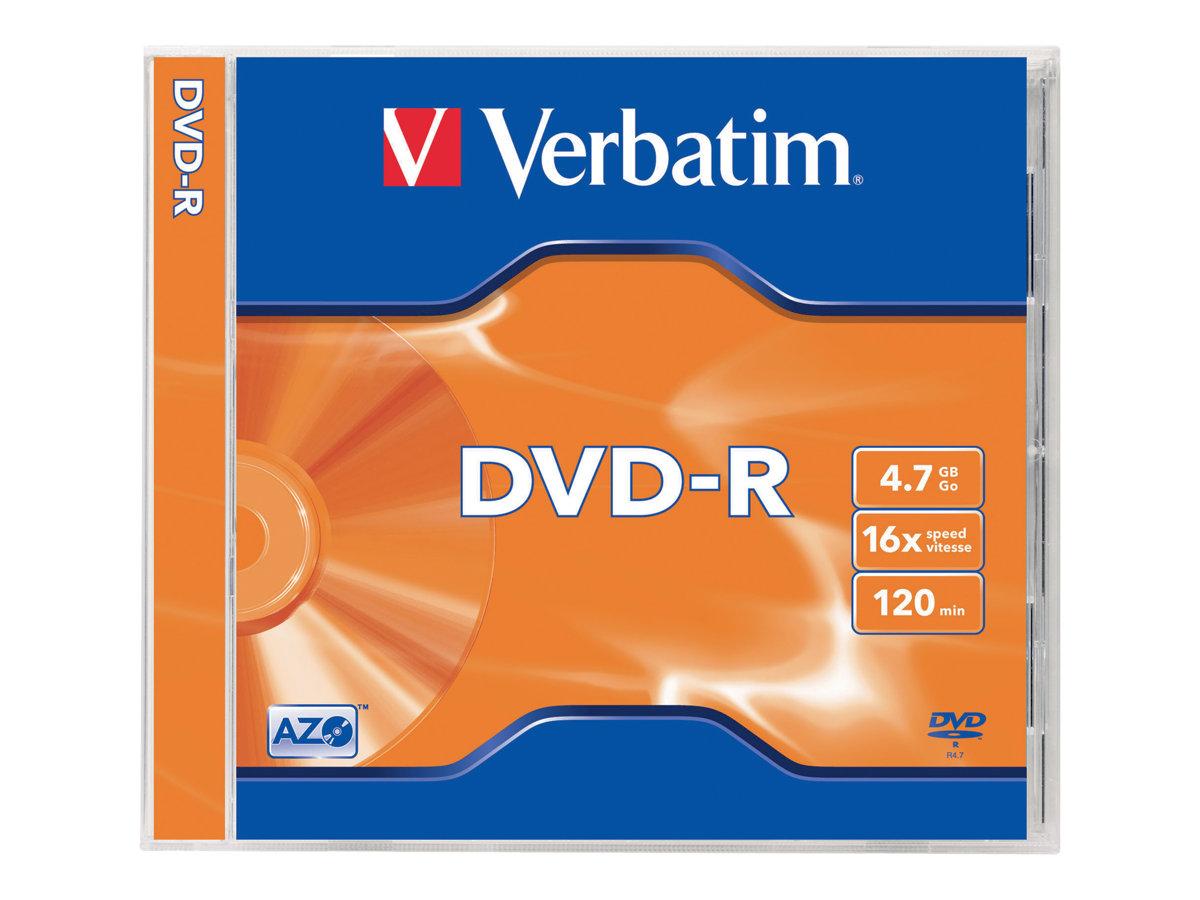 Verbatim - 5 x DVD-R - 4.7 GB 16x - mattsilber - Jewel Case (Schachtel)