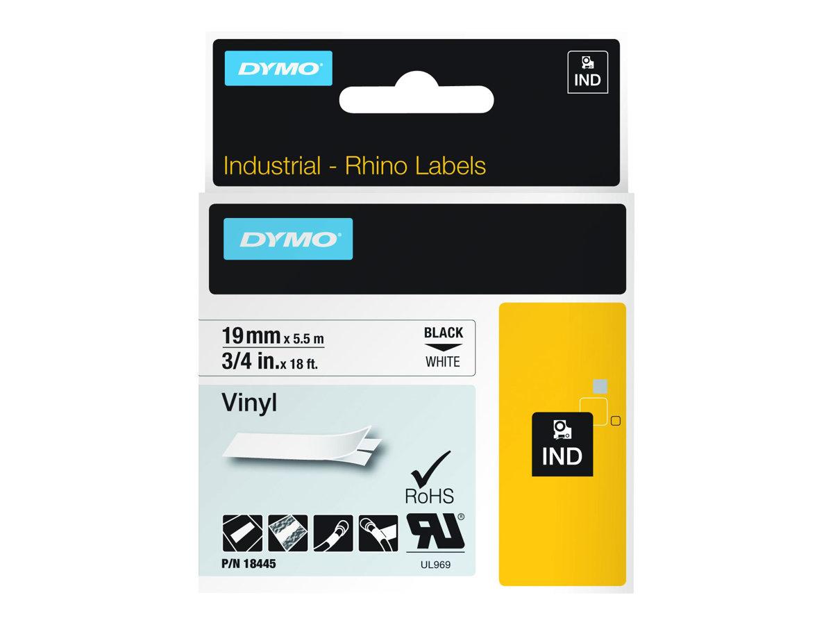 DYMO - Vinyl - weiss - Roll (1.9 cm x 5.5 m) 1 Rolle(n) Etiketten - für Rhino 4200, 6000, 6000 Hard Case Kit; RhinoPRO 5000, 500