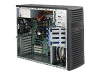 Supermicro SC732 D4-903B - Tower - Erweitertes ATX 900 Watt - Schwarz - USB/Audio
