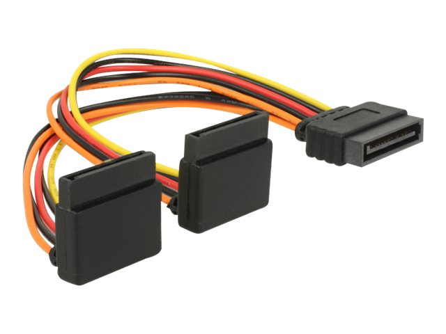 DeLOCK - Netzteil - SATA-Stromstecker (S) eingerastet bis SATA-Stromstecker (R) Metallclip - 3.3 / 5 / 12 V - 15 cm