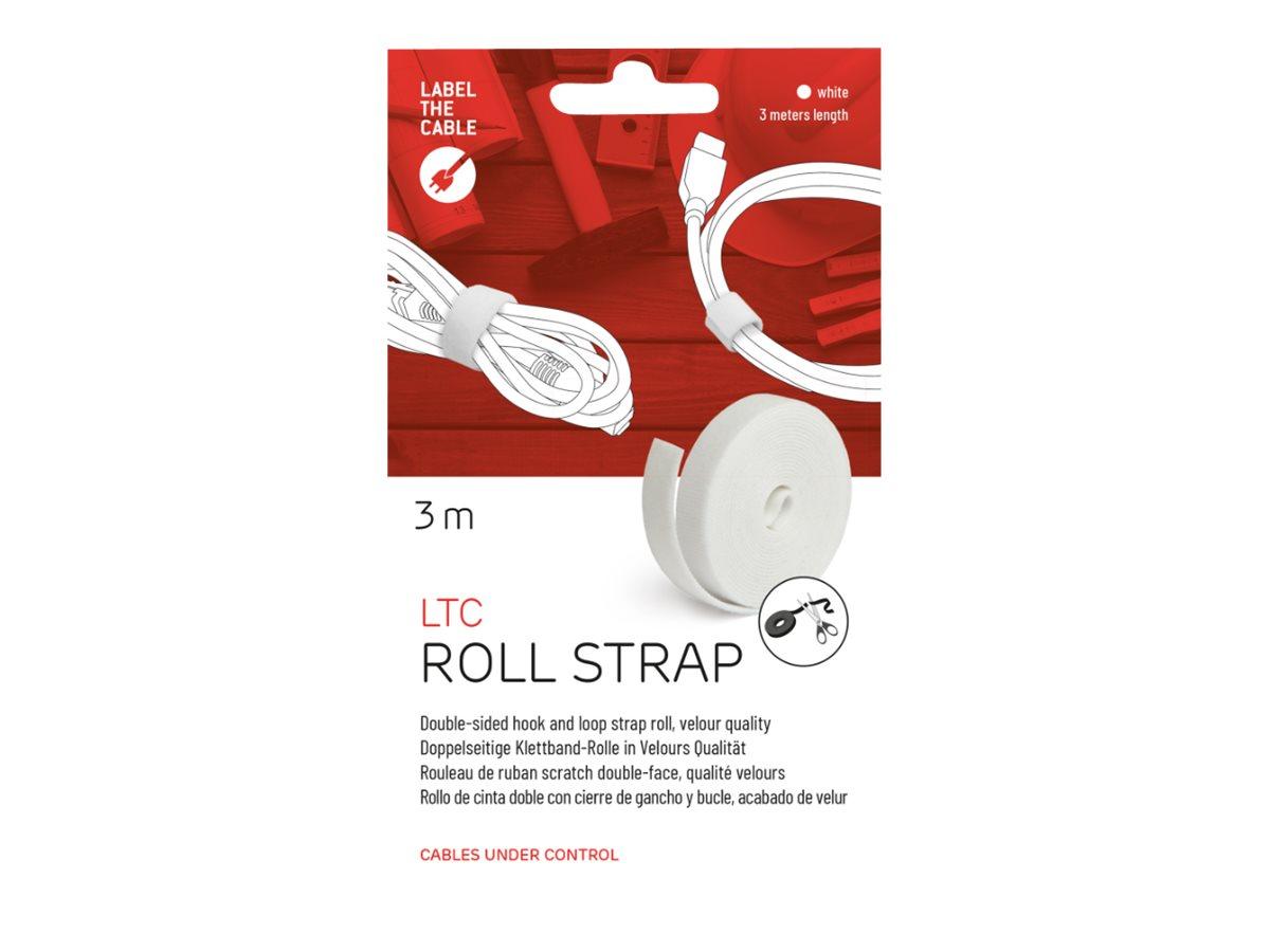 LTC ROLL STRAP - Klettverschlussstreifen - weiss
